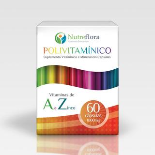 Polivitamínico De A A Z - 1000 Mg - 60 Cápsulas - Nutreflora