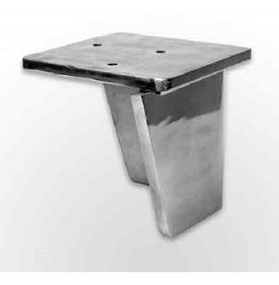 Patas De Aluminio Pulido Cerrada N*4 X 12u