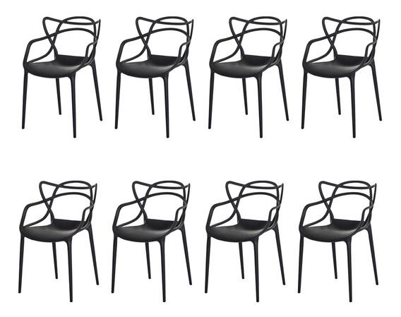 Kit 8 Cadeiras Allegra Cozinha C/ Inmetro Várias Cores