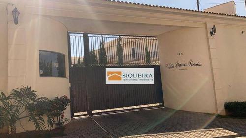 Condomínio Santa Rosália - Casa Com 3 Dormitórios À Venda, 104 M² Por R$ 570.000 - Jardim Santa Rosália - Sorocaba/sp - Ca2148