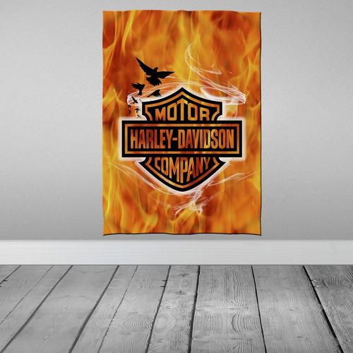 Stompy Bandeira Decorativa Decoração Harley Motor Davidson