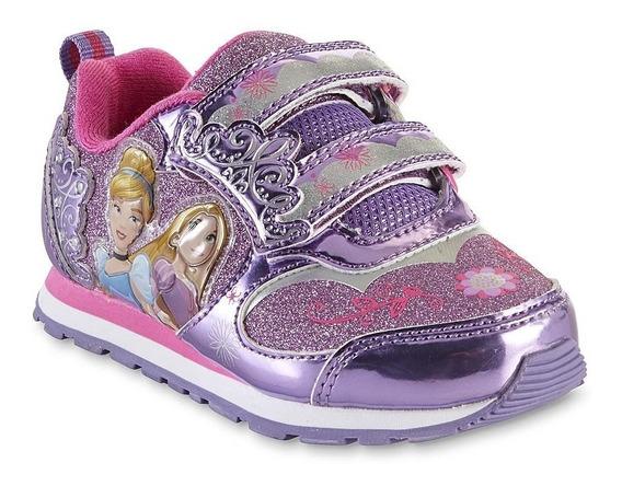 Zapatos Americanos Princesas De Disney Con Luces