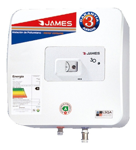 Termotanque Electrico James 30 Litros - Aj Hogar