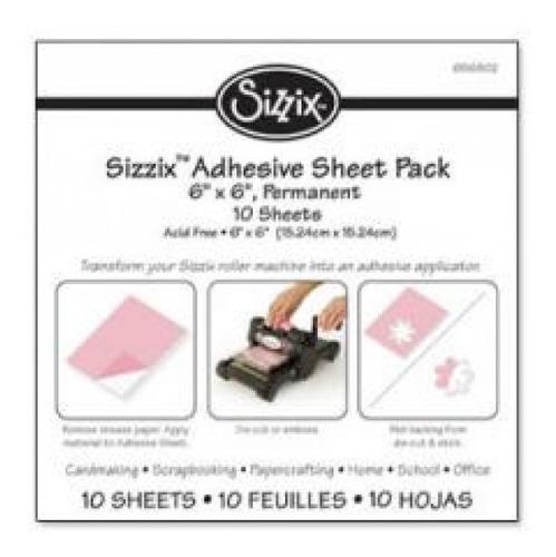 Sizzix - Folhas Adesivas Permanente - 15x15cm - 10 Folhas