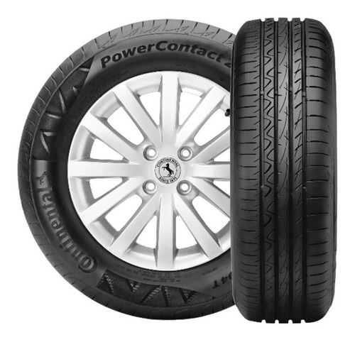 Kit X2 Neumaticos 185/65r14 Continental Power Contact 2 Fs6