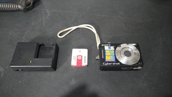 Câmera Digital Sony Dsc-w50 C/ Cartão De Memória 1gb