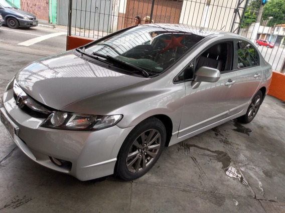 Honda Civic Lxs 1.8 Flex 2009 Prata