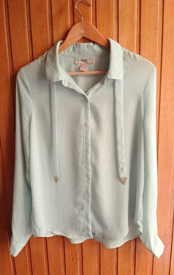 Camisa Color Agua Forever 21 Talle L