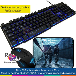 Kit Gamer Mouse + Teclado + Mousepad Gtc Cbg-011 Neuquen