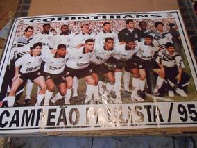 Revista Pôster 56 X 83,5 Corinthians Campeão Paulista 1995