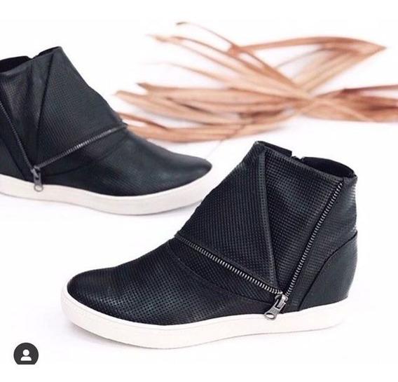 Tênis Sneaker Preto Salto Embutido Orcade 065518