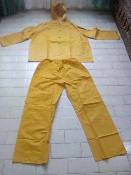 Impermeable Para Lluvia De 2 Piezas Pantalon-camisa Xl