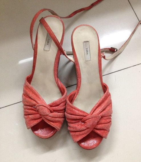 Zapatos Sandalias De Mujer Zara Taco Chino