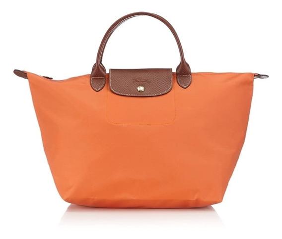Cartera Longchamp Naranja Original