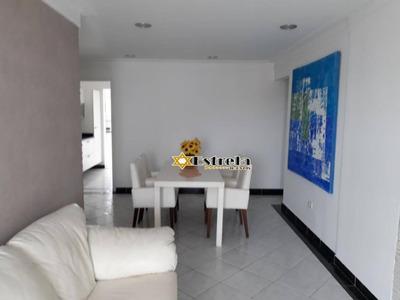 Linda Cobertura Com 3 Dormitórios 2 Suítes Mobiliada À Venda, 176 M² Por R$ 600.000 - Praia Grande/sp - Co0241