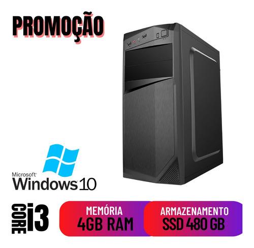 Cpu Desktop Pc Home I3 4gb Ssd 480 Win10