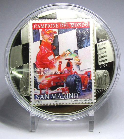 Congo 5 Francos Niquel 2007 F-1 Michael Schumacher Proof
