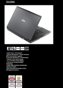 Notebook Msi Cr420mx