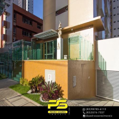 Imagem 1 de 8 de Flat Com 2 Dormitórios À Venda, 52 M² Por R$ 377.000 - Tambaú - João Pessoa/pb - Fl0115
