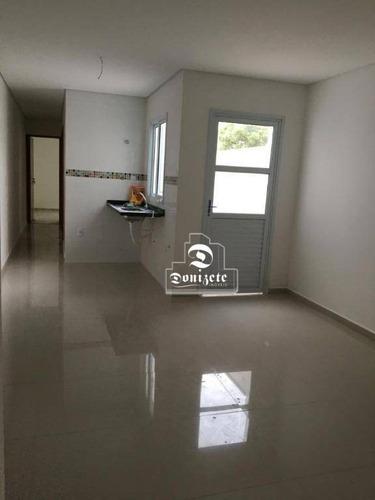 Apartamento Com 2 Dormitórios À Venda, 58 M² Por R$ 349.000,00 - Campestre - Santo André/sp - Ap15923