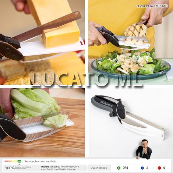Tesoura Cozinha P/ Cortar Alimentos 2x1 - Veja O Video - 12x