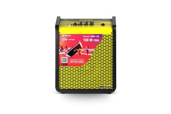 Caixa De Som Portátil Frahm Chroma Yellow Bt 100w
