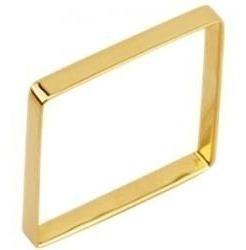 Anel Da Xuxa Quadrado Ouro18 K / 2 Gramas/ 2 Mm Frete Grátiz