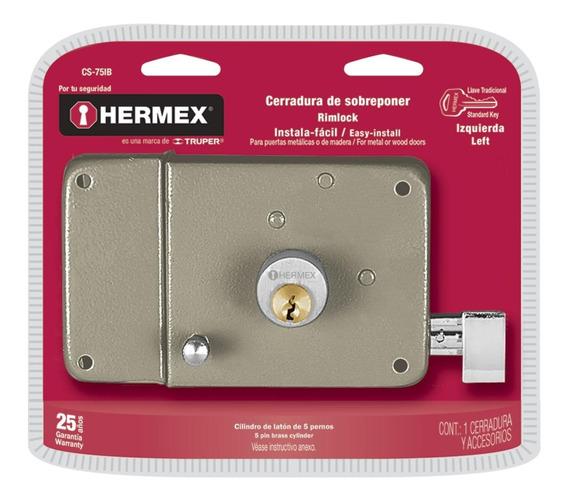 Cerradura Sobreponer Instalafacil Trad. Izq Hermex 43584