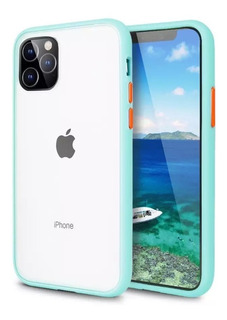 Funda Transparente Mate Premium Uso Rudo Para iPhone