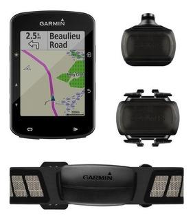 Gps Garmin Edge 520 Plus Bundle Com Capa De Silicone E Pelicula 010-02083-11 Autorizada Garmin
