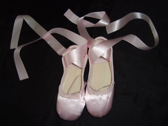 Sapatilha De Fitinha Bailarina De Fita De Cetim