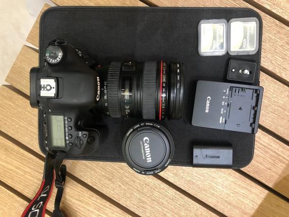 Câmera Eos 7d Com Lente Ef 24-105mm E Ef 82mm 1:1.4, Comp.