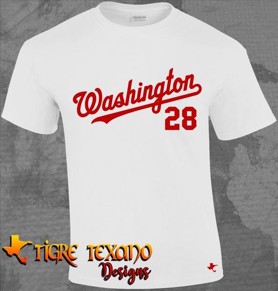 Playera Mlb Nationals Washington M 1 By Tigre Texano Designs