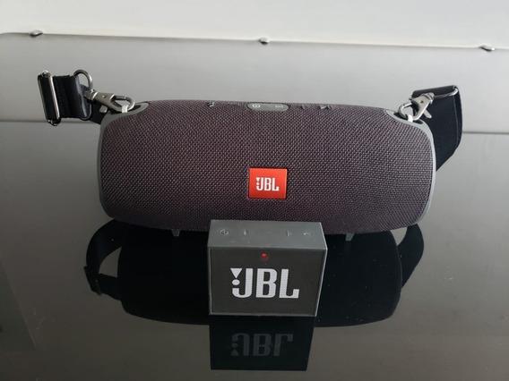 Caixa De Som Jbl Xtreme Black + Mini Jbl Go - Originais