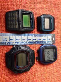 Lote Relógios Cásio Antigos Dw-290 Dbc-63 F-9 W-96h Leia Des