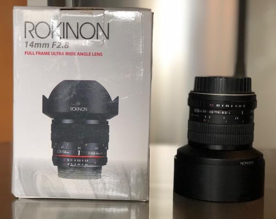 Objetiva 14mm 2.8 Rokinon Para Canon