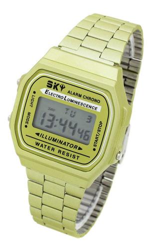 Reloj Sky Skinny 81 By Feraud - Vintage Wr Crono Alarma Luz
