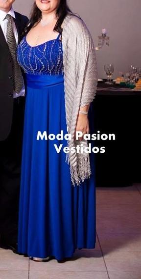 Vestido Piedreria Talle Especial Gordita Madrina Moda Pasión