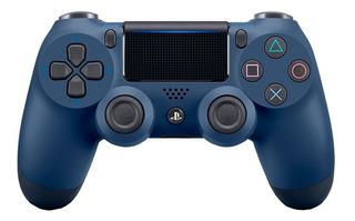 Controle Azul Ps4 Dualshock 4 Midnight Blue Nacional C/ Nf