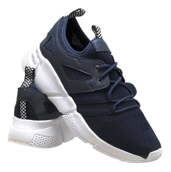 Tênis Casual Masculino Caminhada Runner Confort Esporte
