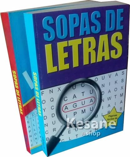 Sopas De Letras Libros Jumbo Paquete Niños / Adultos