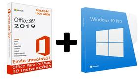 Windows 10 Pro + 365 Office 2019 Chave Licença Download Key