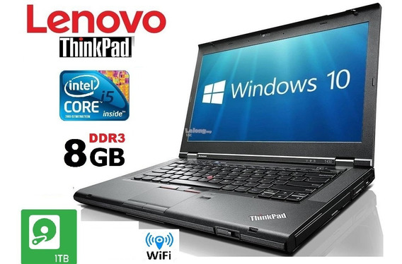 Notebook Lenovo 14 Thinkpad T430 I5 1tb / 8gb / Garantia