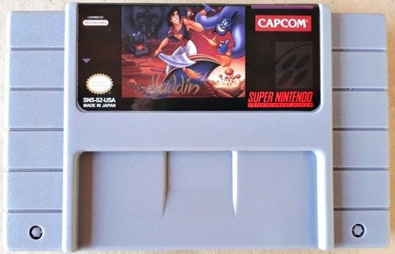 Cartucho Aladdin Jogo Snes Super Nintendo Disney Capcom Novo
