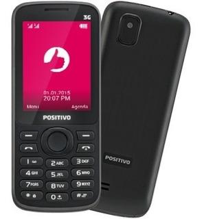 Telefone Simples Idosos Positivo P30 3g Câmera Fm Mp3 1 Chip