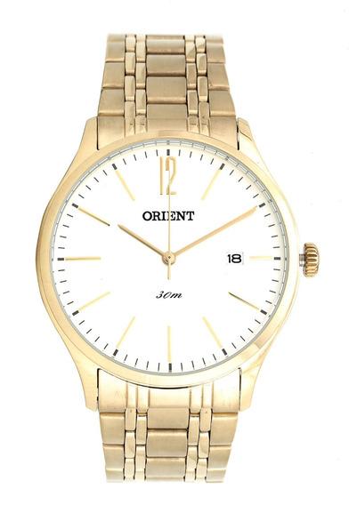 Relógio Dourado Masculino Clássico Mgss1138 S2kx