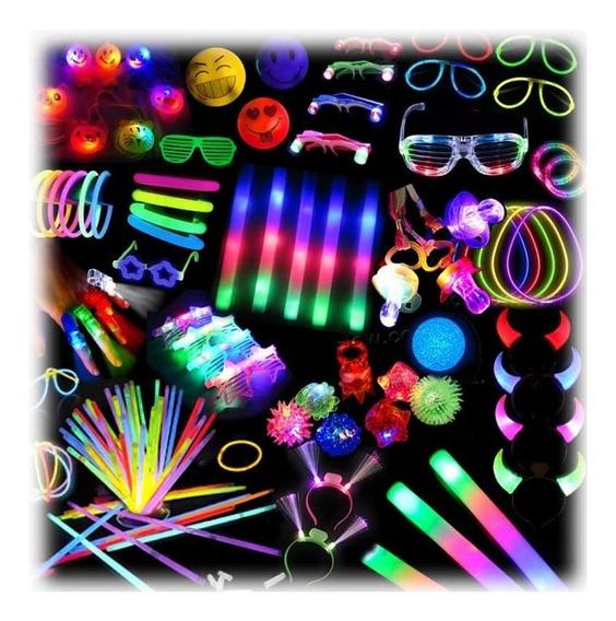 Combo Cotillon 100% Luz + Carioca Fluor 215 Art 100 Personas