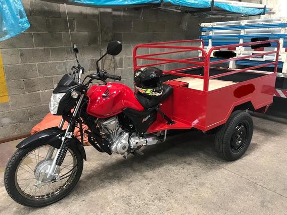 Moto Triciclo De Carga Honda - Carroceria Fusco
