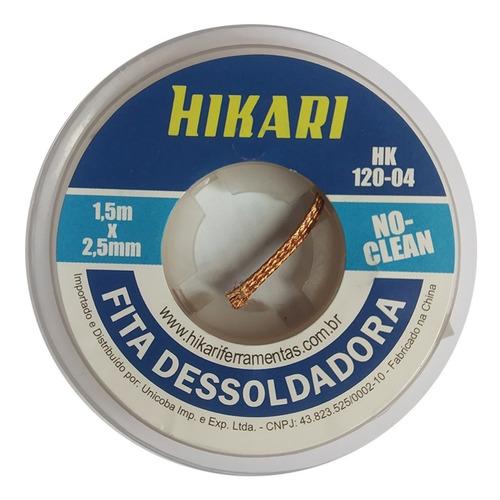 Imagem 1 de 1 de Fita Dessoldadora - Malha Hikari Hk120 - 1,5m 2,5mm