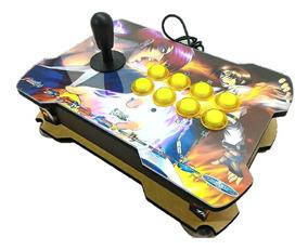 Controle Arcade Fliperama Pc/play3/play4/rasp Led Slim Max